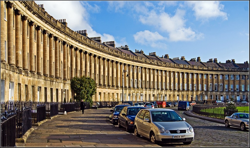 The Royal Crescent, Bath. pic by Velodenz