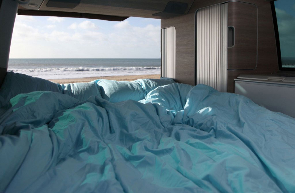 VW Campervan hire with bedding
