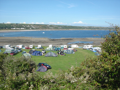 The Gower CampsitesCarreglwys Caravan & Camping Site, Port Eynon Bay Beach Campsites South Wales