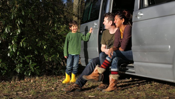 A campervan is ideal for an Autumn Family Camping Holiday
