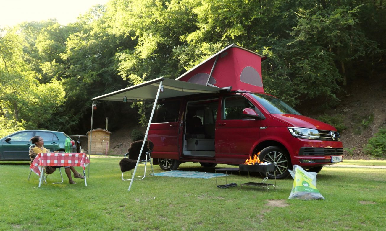 Campervan hire Weekend adventure in Pool Bridge Campsite