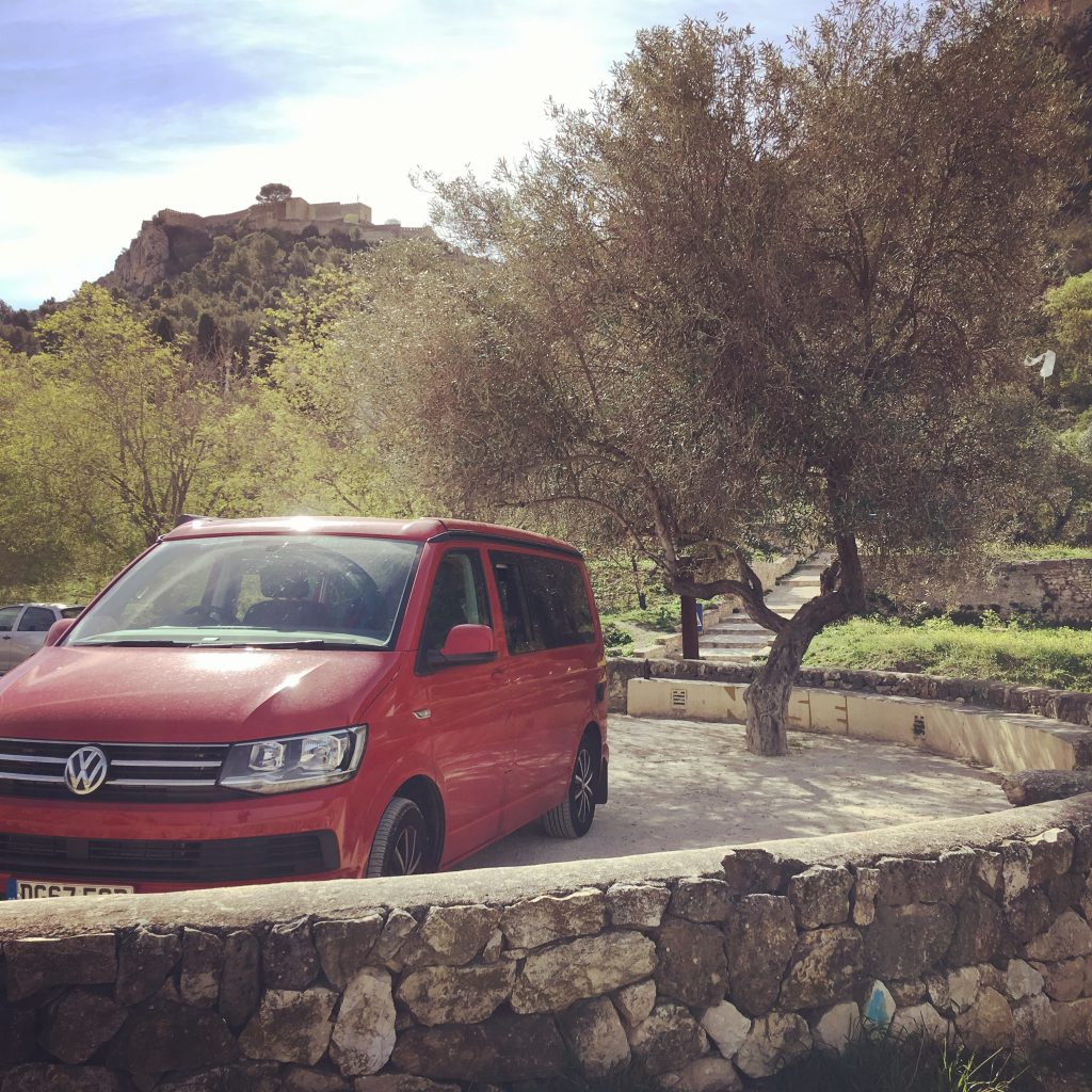 A european road trip in a campervan. the road to Xatvia Spain